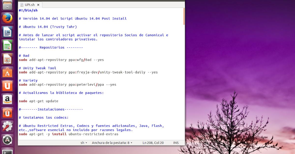 script post install logiciel ubuntu