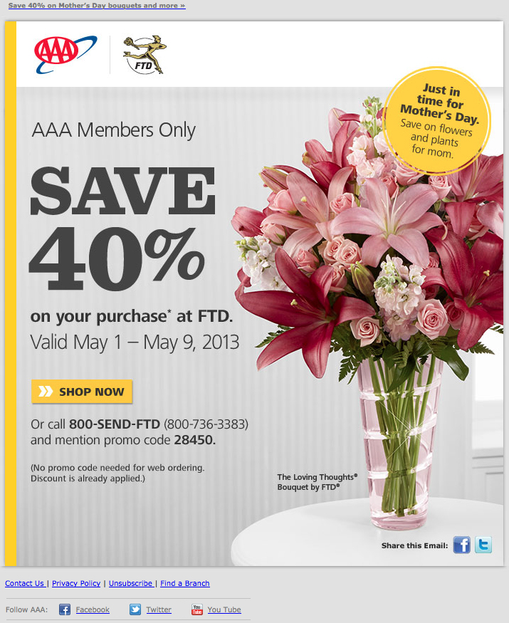Am Inbox Cross Brand Promotional Emails For Mothers Day Oracle