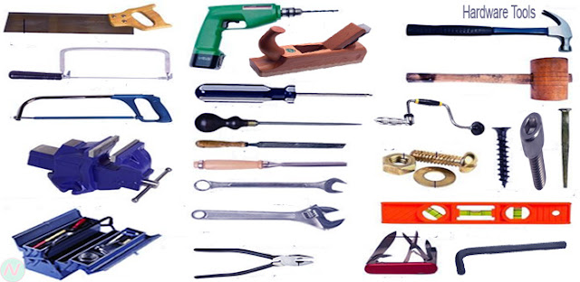 Learn Hardware Tools Names with Necessary Vocabulary Meaning & Image