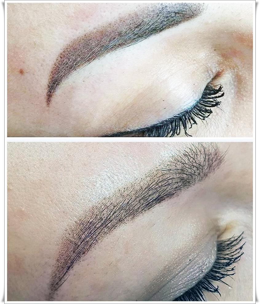 Татуаж бровей волосковый метод