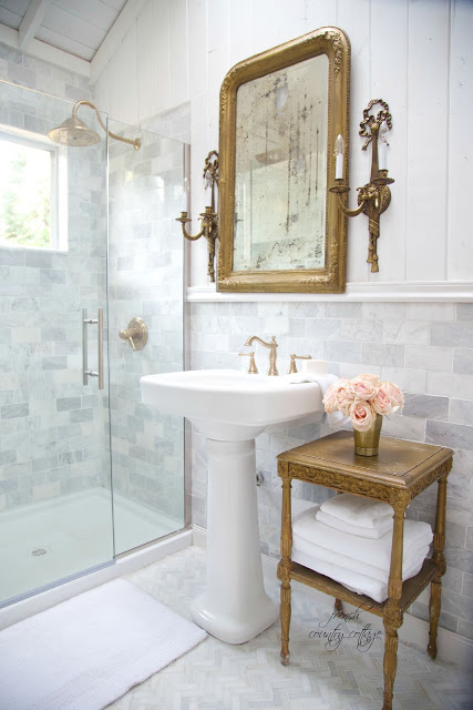 French cottage bathroom transformation