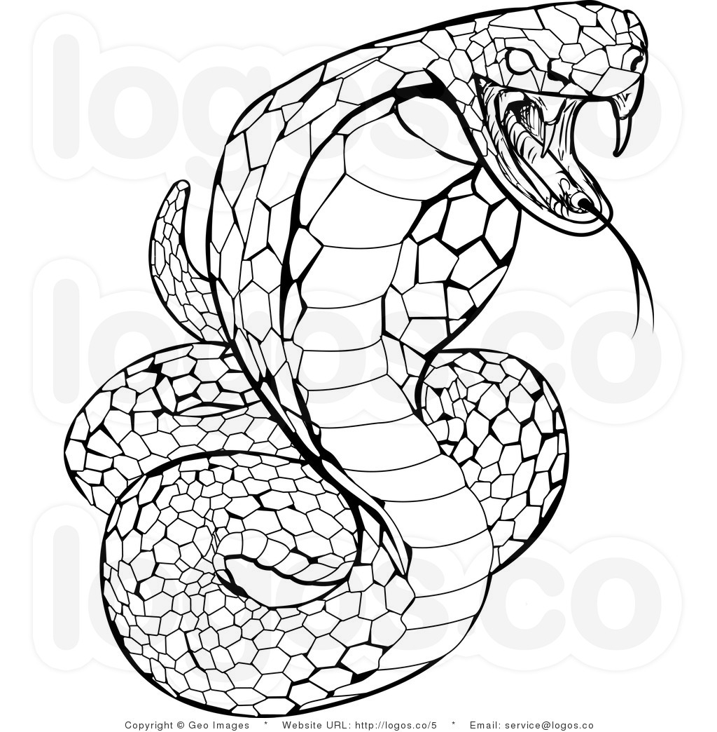 Free Coloring Pages Of King Cobra Drawing
