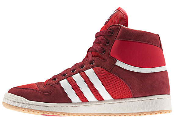 cheap for discount 8300d 2879b This time its a red suede and mesh mix that serves as the base for white  Stripes, as the Decade Mid OG comes through with a tonal Cardinal setup  atop a gum ...