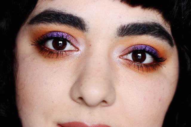 Purple and Orange Smokey Eye