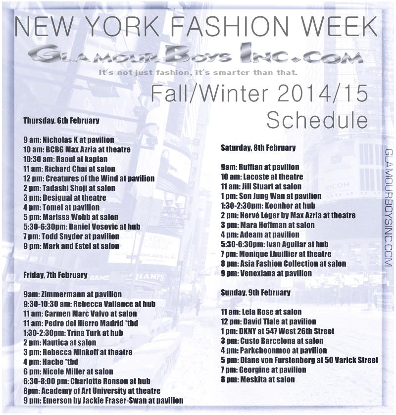 New york fashion week dates