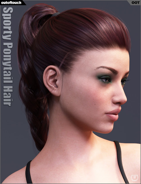 Sporty Ponytail Hair and OOT Hairblending 2.0 for Genesis 3 Female