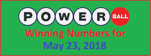 PowerBall Winning Numbers for Wednesday, 23 May 2018