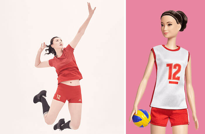 Barbie Introduces 17 New Dolls Based On Inspirational Women Such As Frida Kahlo And Amelia Earhart - Hui Ruoqi, Volleyball Champion