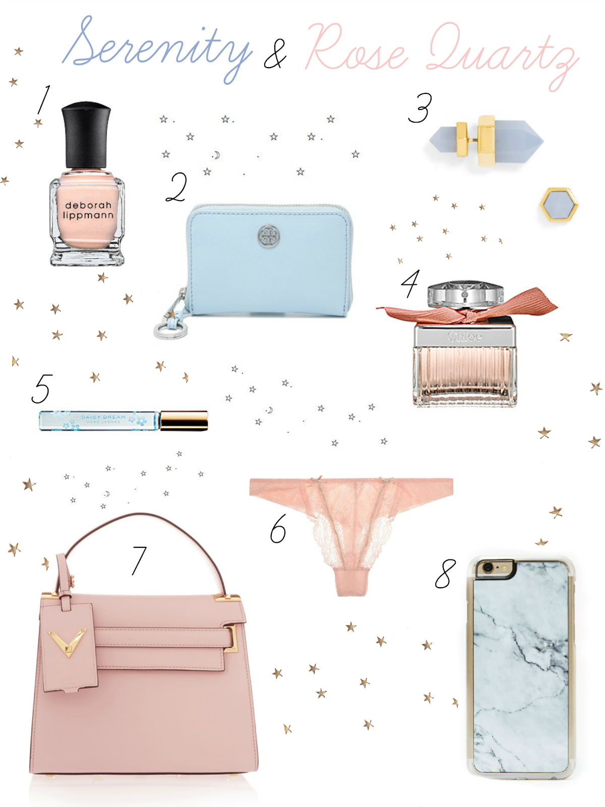 Pantone Colors 2016: Rose Quartz + Serenity
