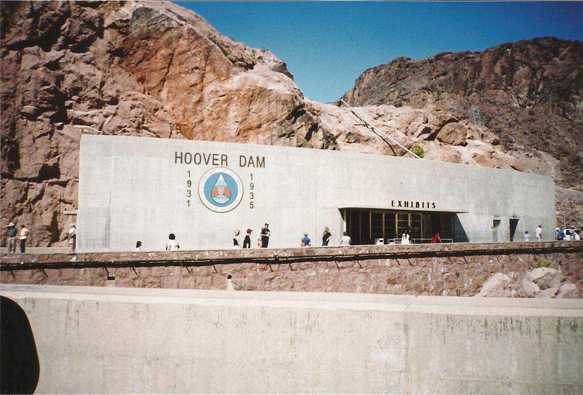 This Was Back When You Could Still Drive Across Hoover Dam