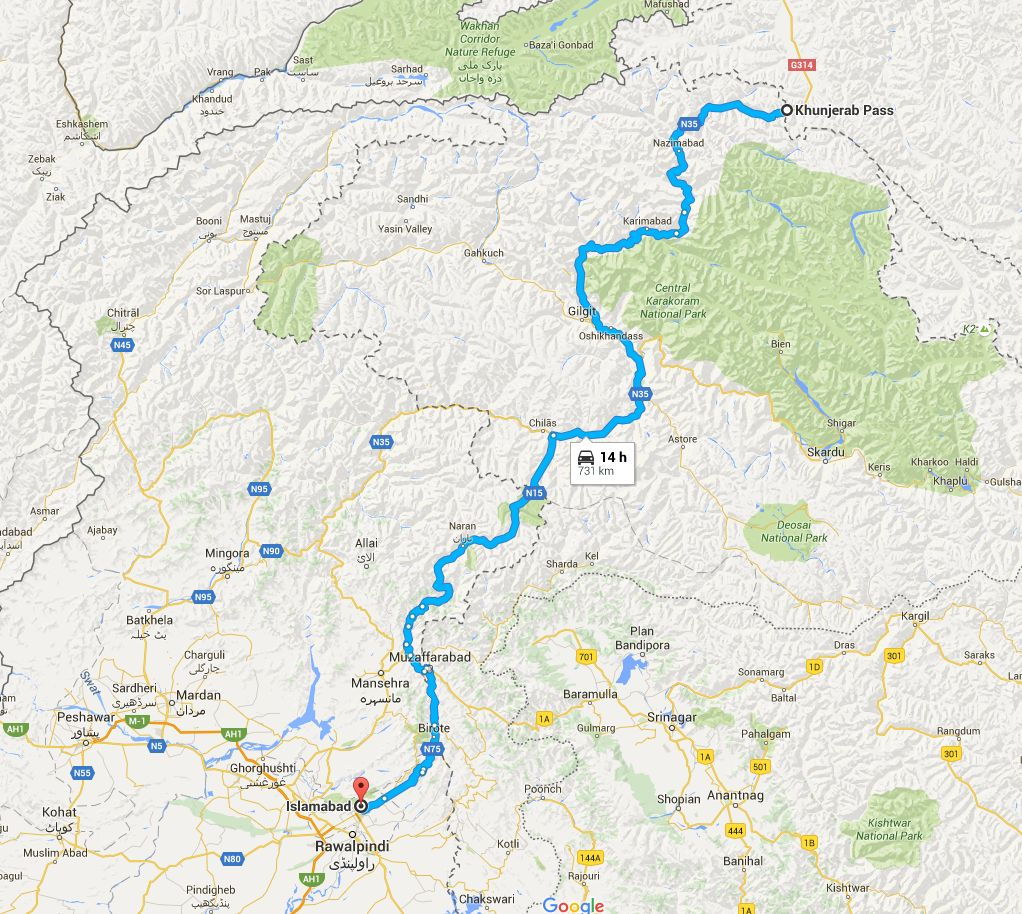 Islamabad Pakistan Map: Khunjrab To Islamabad: A Spectacular Journey From Top Of