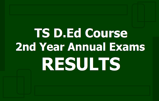 TS D.Ed 2nd Year Results 2019