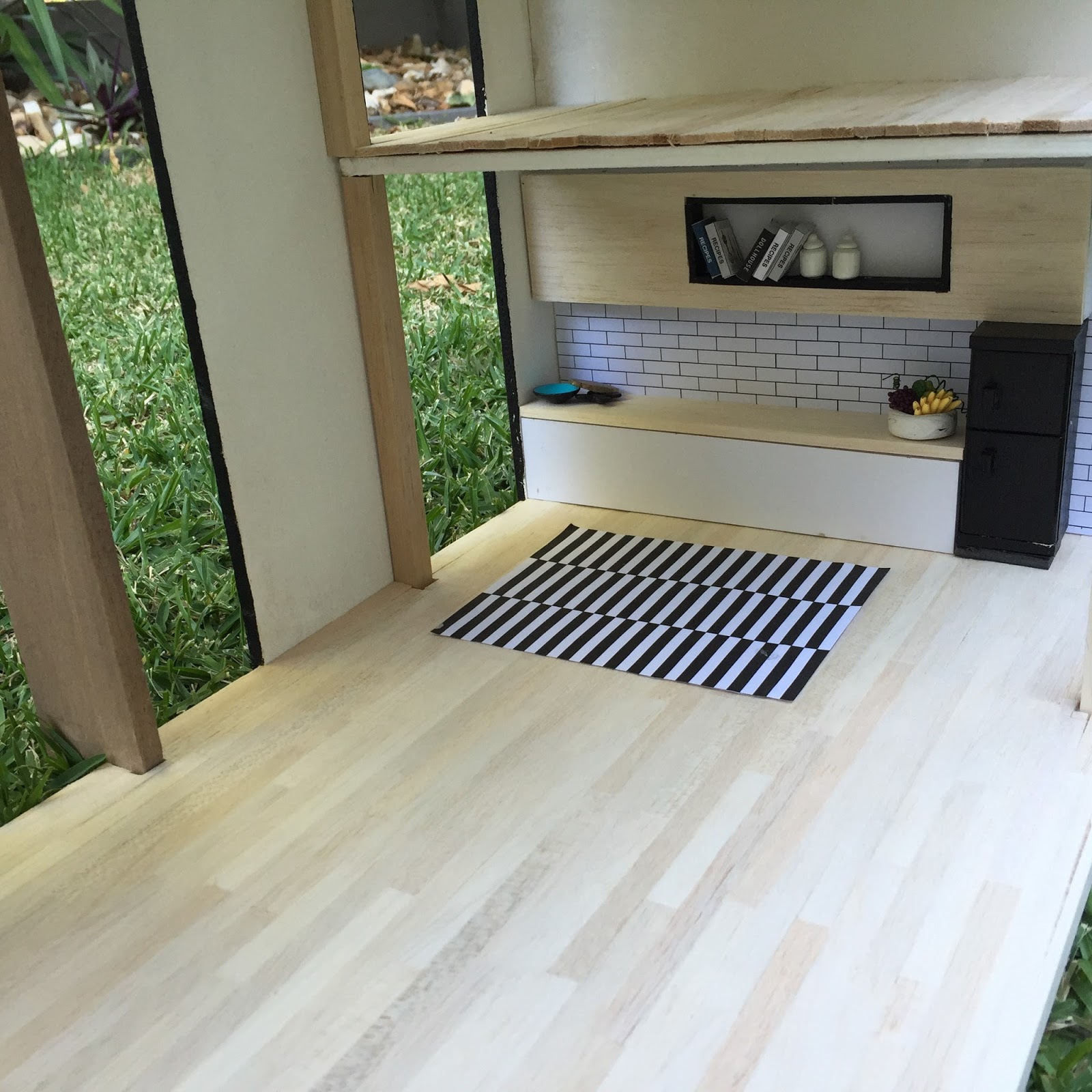 Modern Dollhouse DIY: How To Lay Miniature Wooden Floor Boards