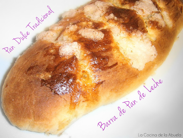Barra pan leche. Pan dulce tradicional receta final