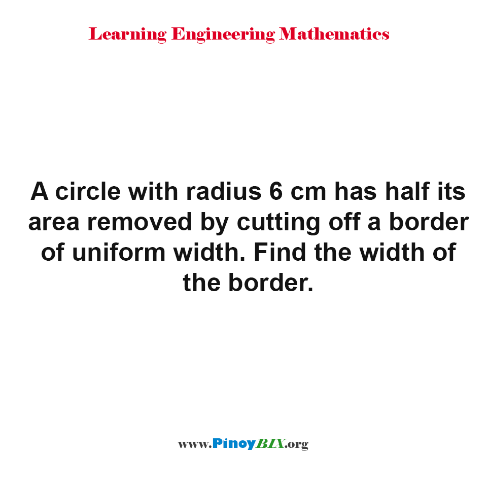 Find the width of the border of a circle