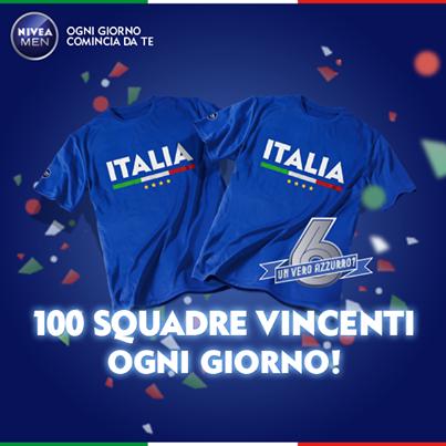 Logo Concorso NiveaMen gioca gratis e vinci 600 magliette della Nazionale Calcio