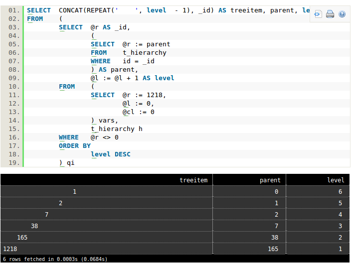 PHP Learning Bench: Hierarchical data in MySQL: parents and