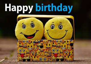 smily emojy happy birthday friend