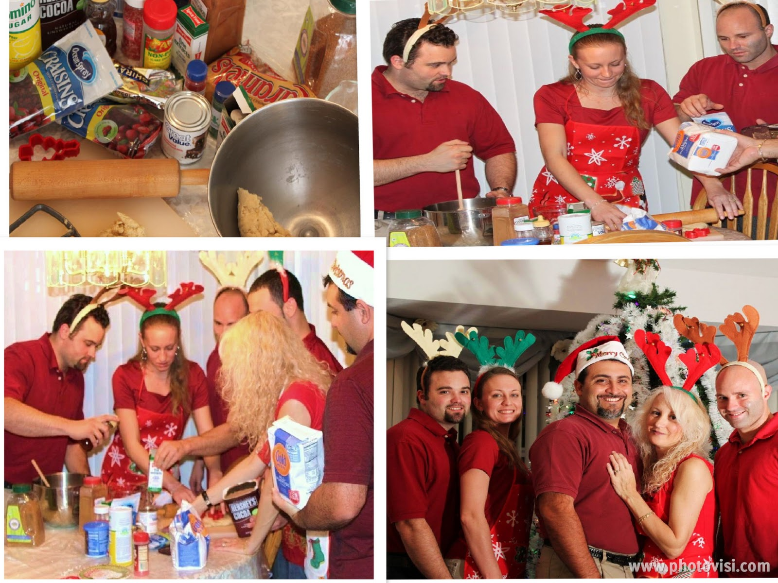 the family making 24 kinds of cookies for Christmas