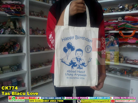 tas blacu love murah