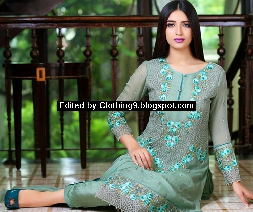 Fancy Chiffon Dresses Eid Collection 2015
