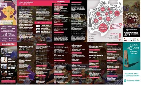 Programa Oficial Carnaval de Cádiz 2018