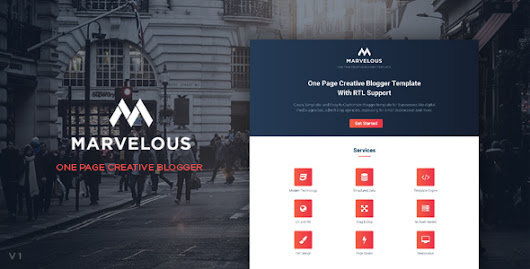 Marvelous - One Page Creative Blogger Templates - Kaizentemplate - Rebuild Another Awesome Blogger Templates