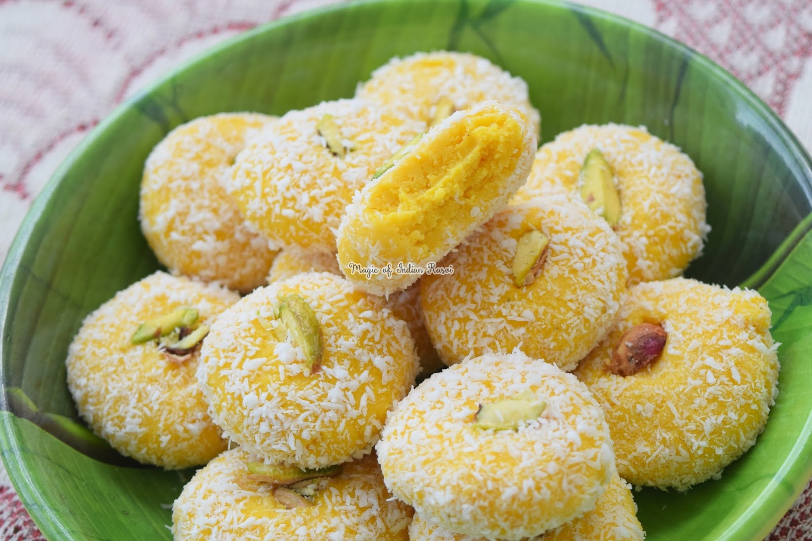 Kesar Peda - Milk Peda Recipe - केसर पेड़ा - दूध पेड़ा रेसिपी - Priya R - Magic of Indian Rasoi