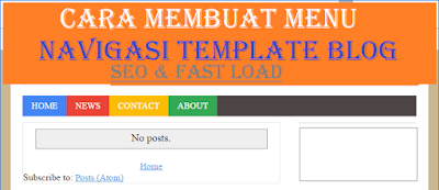 Membuat Menu Navigasi Template Blog