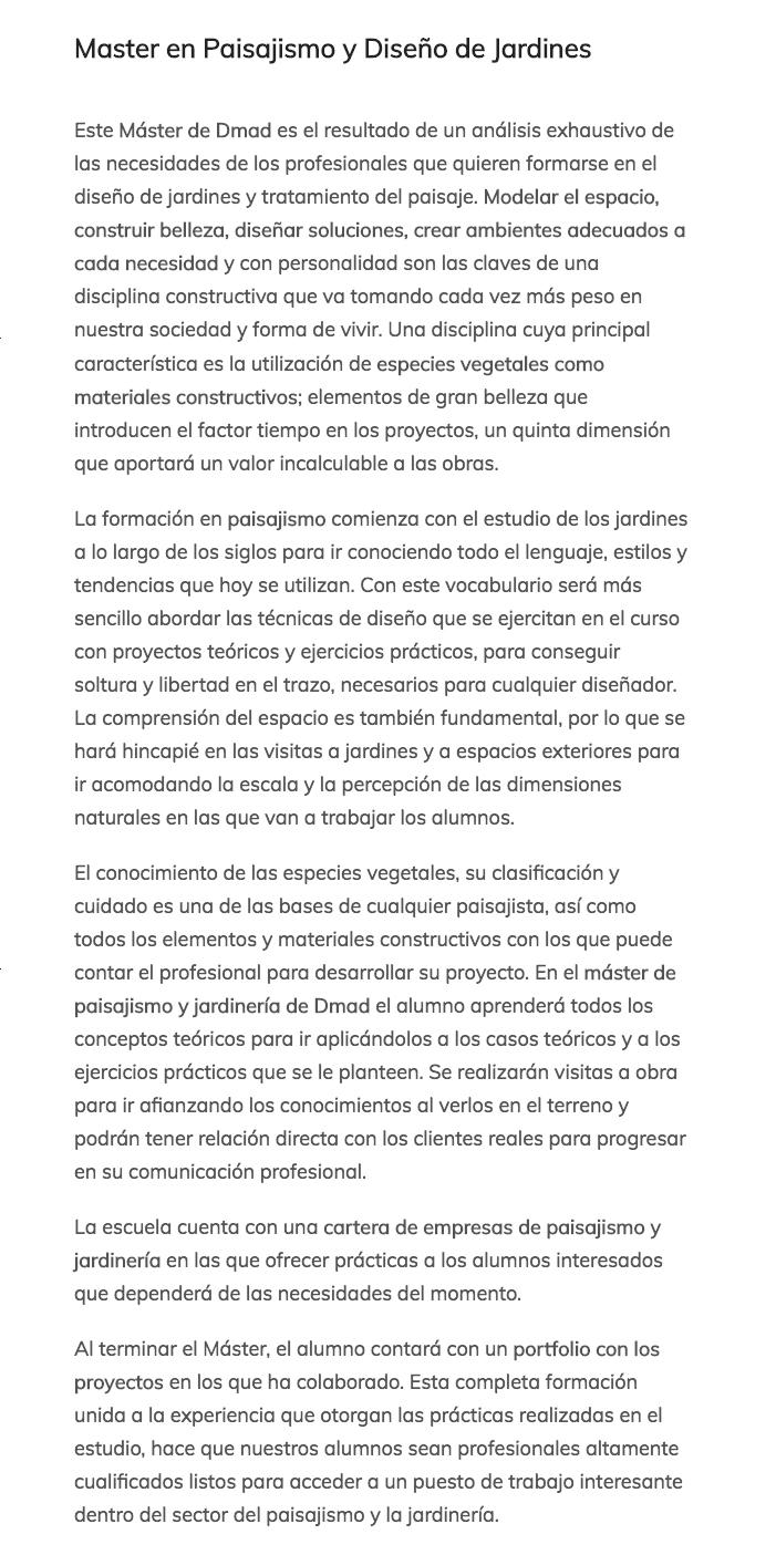 Nuevo master de paisajismo y dise o de jardines en dmad madrid paisaje libre - Master en paisajismo ...