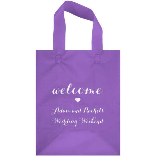 Purple Frosted Wedding Gift Bag