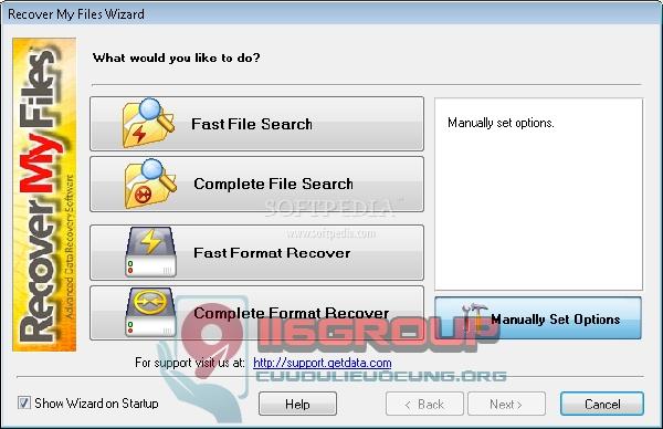 Cứu dữ liệu xóa Delete với Recover My Files