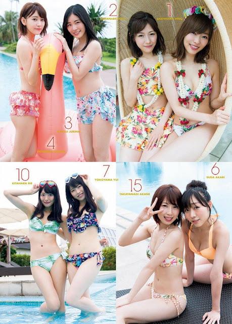 Gravure AKB48 Members Mizugi Surprise Happyou 2017 04