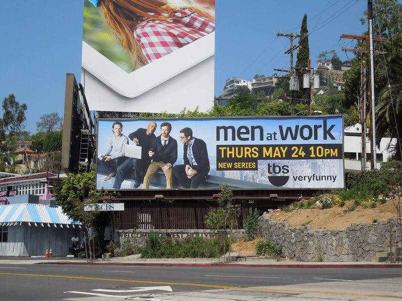 Men at Work TV billboard
