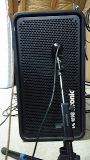 Baffle ampli basse repris par un micro Audix D6