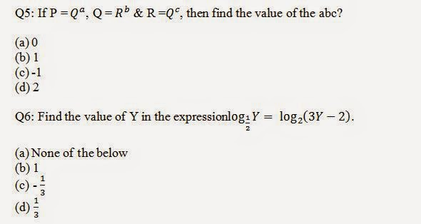 Logarithm Aptitude Questions and Answers