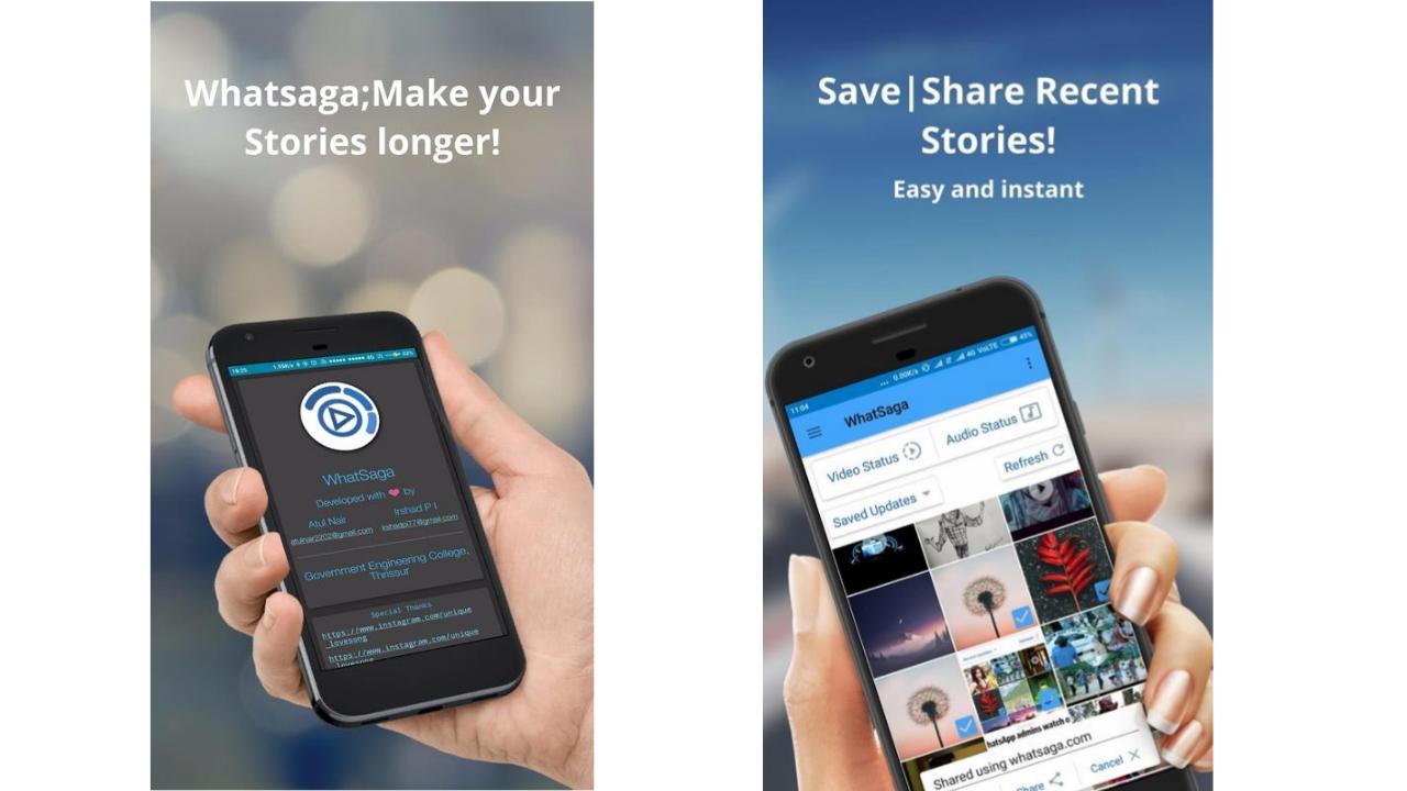 WhatSaga | Longer Stories | Save Status Premium Apk free Download