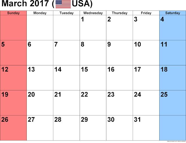 March 2017 Calendar, March 2017 Printable Calendar, March 2017 Calendar Printable, March 2017 Blank Calendar