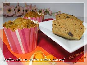 Muffins salés aux carottes râpées et olives