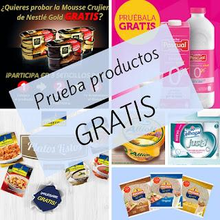 Prueba productos y muestras gratis