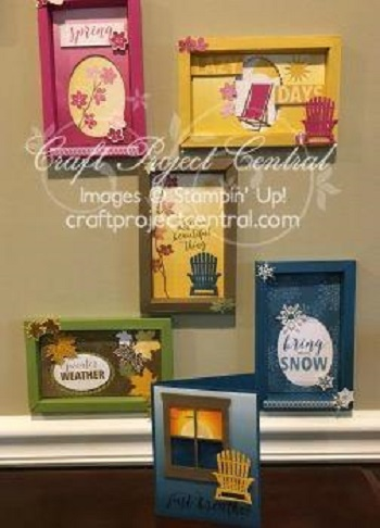 Workin out the inks seasonal shadow boxes you can make one set for yourself and one to give away the beautiful card can be sent separately or used as a gift card this would make a wonderful solutioingenieria Images