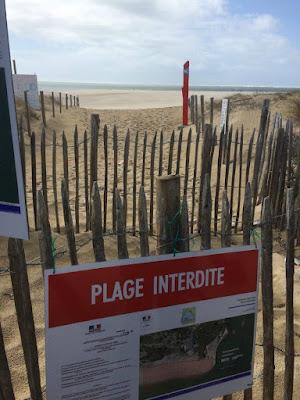 Foto del acceso prohibido a las dunas de Cap Ferret | caravaneros.com