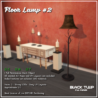 [Black Tulip] Mesh - Floor Lamp #2
