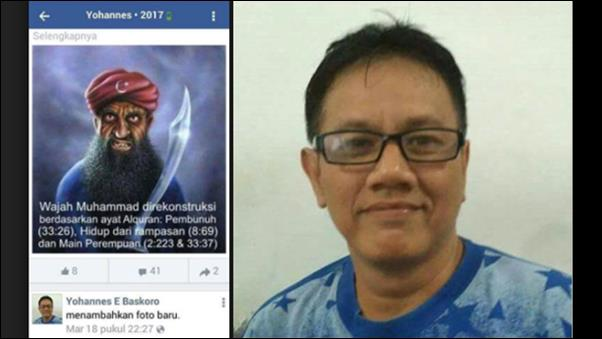 Hina Nabi Muhammad di Medsos, Pemilik Akun Yohanes E Baskoro Dicokok Polisi