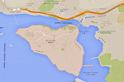 Google map, Ap Lei Chau, hong kong