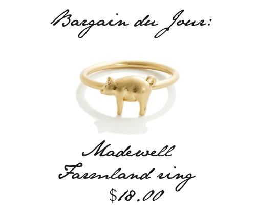 gold pig ring