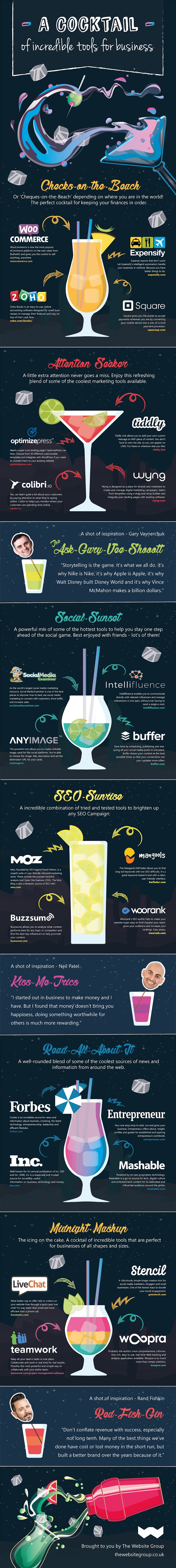 A Cocktail of Incredible Tools for Business! [Infographic]