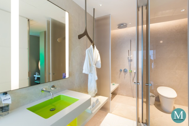 walk-in shower of the Fantastic Suite at W Hotel Suzhou China