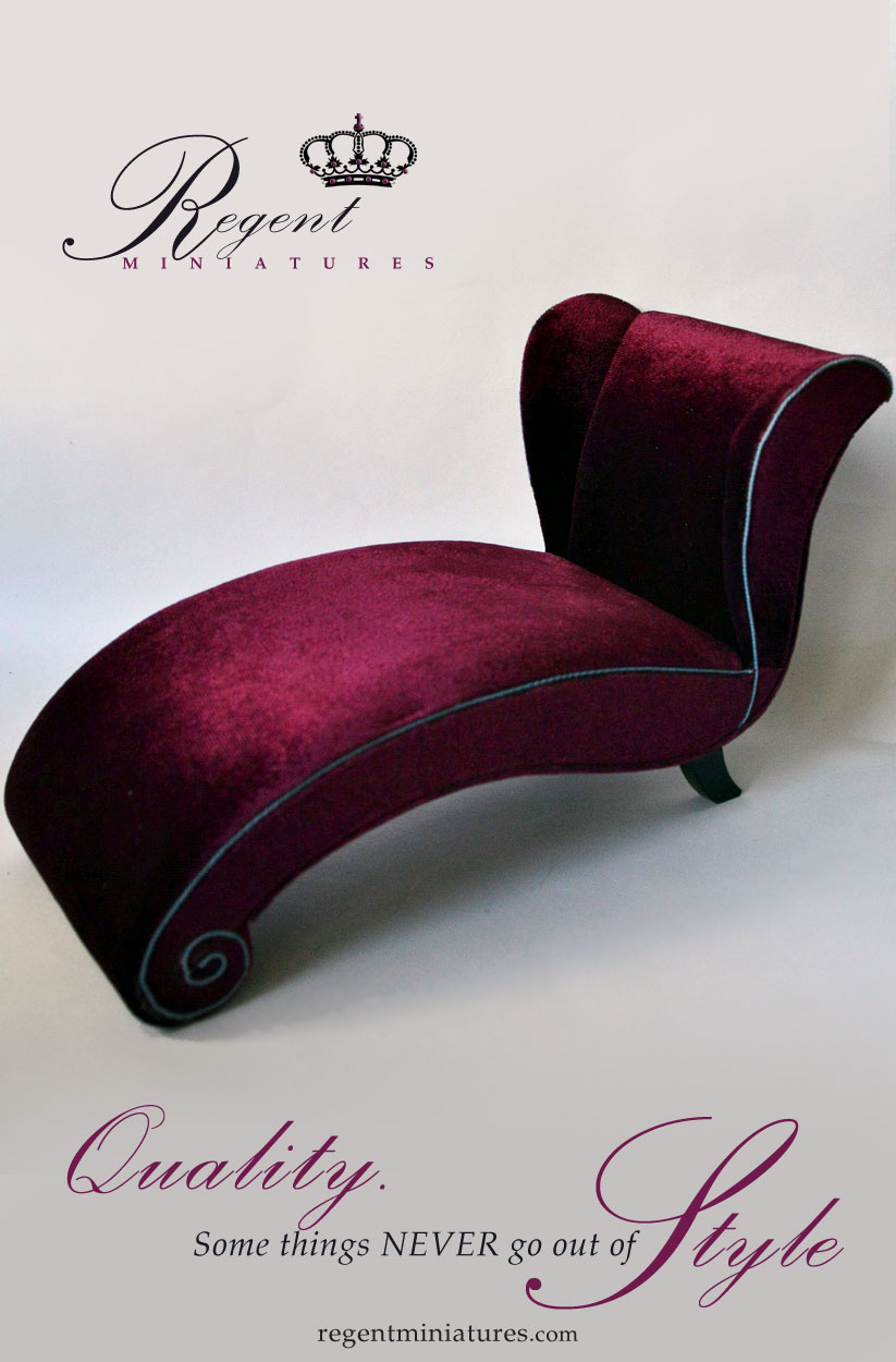Chaise Design Miniature Regent Miniatures New 1 6 Scale Plum Modern Chaise