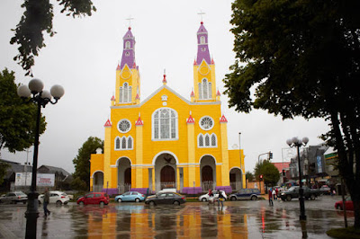 Iglesia de San Francisco, city of Castro, Chile.